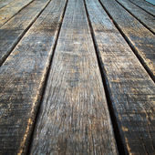 Perspective Old wood floor — Stock Photo