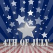 Vector de stock : The fourth of july