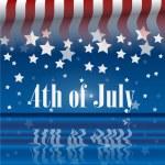 4 lipca — Wektor stockowy