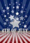 Den fjärde juli — Stockvektor