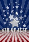 El 4 de julio — Vector de stock