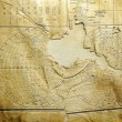 Royalty-Free Stock Photo: World map on old paper
