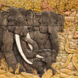 Stock Photo: Three carved Thai Elephant
