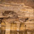 Decayed wood wall crack — Stock Photo