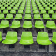 Stock Photo: Orange seats on stadium