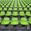 Foto de Stock  : Orange seats on stadium