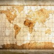 World map on paper — Stock Photo