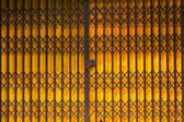 Folding metal door — Stock Photo