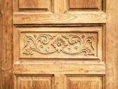 Pattern carved door — Stock Photo