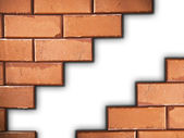 Separated brick wall — Stock Photo