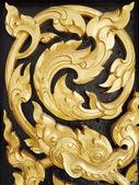 Thai art Wood carvings — Stock Photo