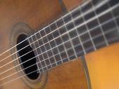 Brown wood classic guitar — Stock Photo