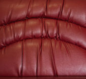 Crease of red leather — Stock Photo