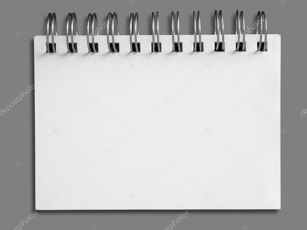 Blank one face white paper note book — Foto de Stock   #5890840