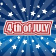 Stock Vector: The fourth of july