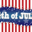 The fourth of july — Stok Vektör