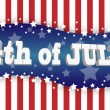 The fourth of july — Imagens vectoriais em stock