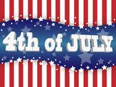 Il quarto di luglio — Vettoriale Stock