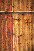 Zinc rust red wall — Stock Photo
