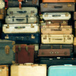 Stock Photo: Old vintage suitcases