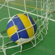 Volleyball in gym — Stock Photo #6591509