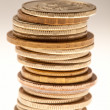 Stock Photo: Stack of coins