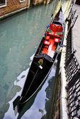 Black gondola — Stock Photo
