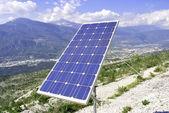 Experimental do painel solar — Foto Stock