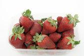 Strawbery korb — Stockfoto