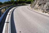 Curva de asfalto — Foto de Stock