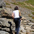 Stock Photo: Girl on mountain