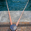 Stock Photo: Moorings for boats