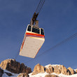 Cable car in the winter — Stock Photo