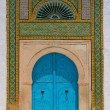 Stock Photo: North Africarchitecture - blue doors and ornaments