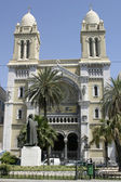 Cathedral of St. Vincent de Paul, Tunis — Stock Photo