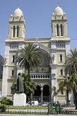 собор сент-винсент де поль, тунис — Стоковое фото