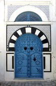 Blue door in Sidi Bou Said — Stock Photo