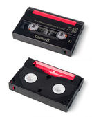 Digital 8 video casette, front and rear side — Stock Photo