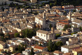 Church and palace of fossombrone a little town in center of italy — Stock Photo