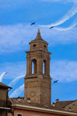 Illustration of church and sky of fano in italy — Stock Photo