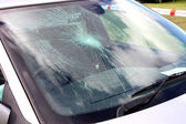 Broken Car Windscreen. — Stock Photo