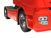 Large Red Lorry. — Stock Photo