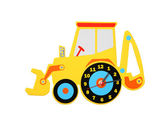 Digger Clock. — Stock Photo