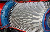 Láminas de turbina motor de jet. — Foto de Stock