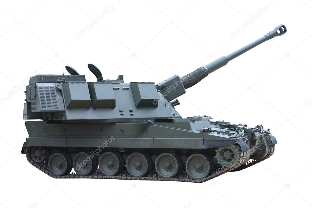 A Large and Powerful Military Combat Tank Vehicle. — Stock Photo #6531359