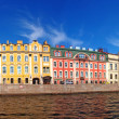 Panorama of St. Petersburg river channel - Stock Photo