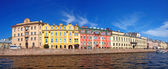 Panorama of St. Petersburg river channel — Stock Photo