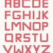 Stok Vektör: Cross stitch alphabet