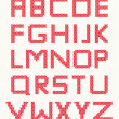 Cross stitch alphabet — Stock Vector #6684067