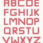 Cross stitch alphabet — Stock Vector